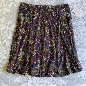 Black Purple Pink Floral Madison Skirt